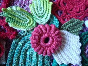 Crocheted flowers - Needlepoint